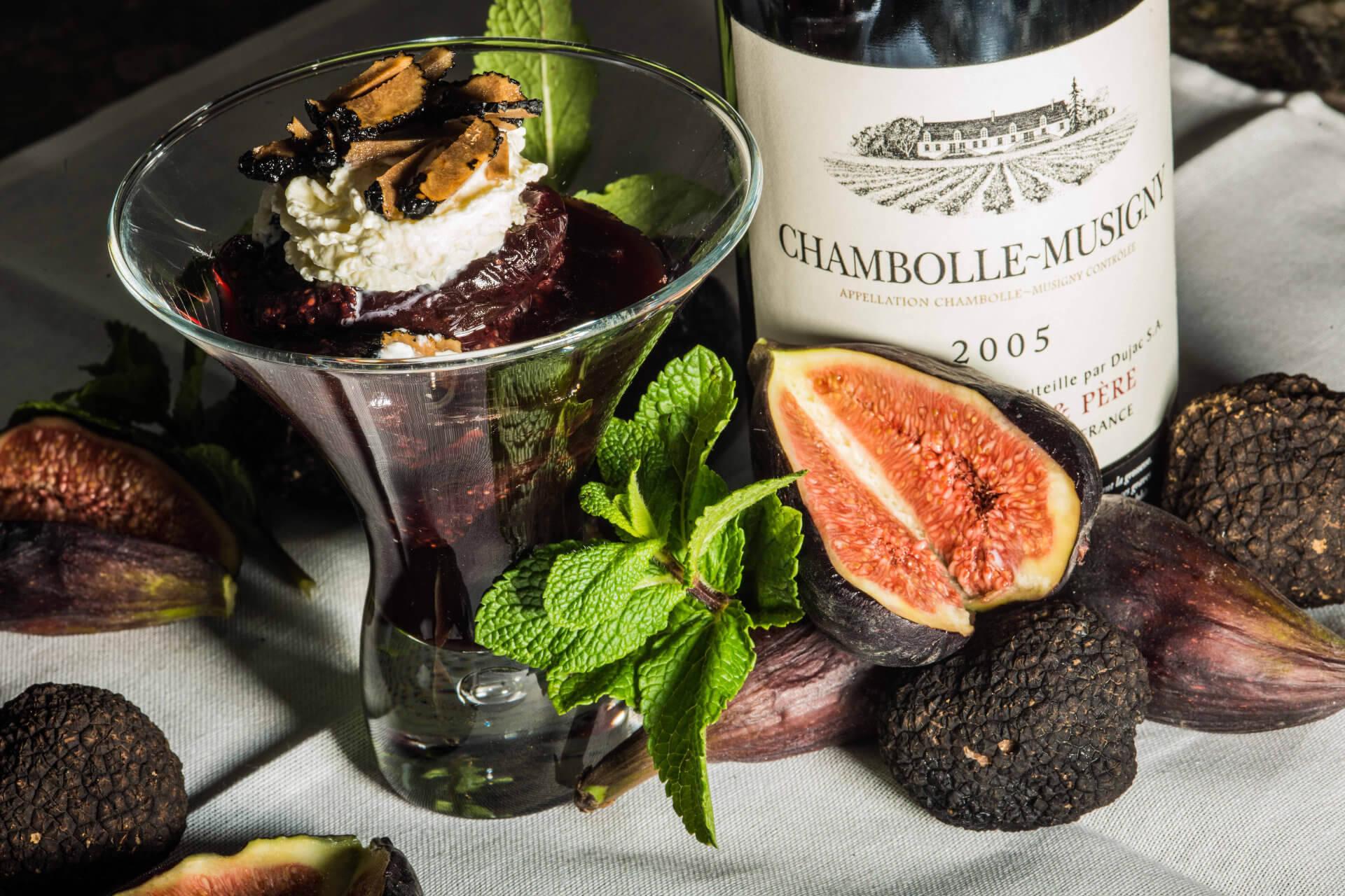 wine and truffle
